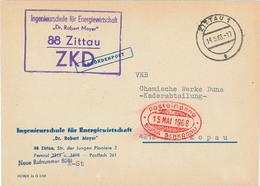 ZKD Ingenieurschule Für Energiewirtschaft Robert Mayer Zittau - Brief An Buna Schkopau Rs: Merseburg - Other