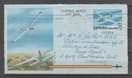 ESPAÑA. Aerograma 1985. Nº209. Circulado - 1931-....