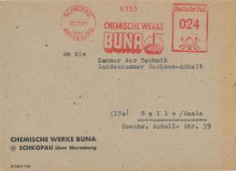 AFS Chemische Werke Buna Schkopau 1951 Merseburg - Brief Nach Halle - Other