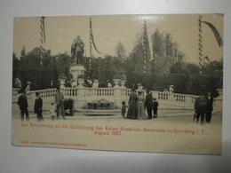 Allemagne.  Zur Erinnerung An Die Enthüllung Des Kaiser Friedrich Denkmals Zu Cronberg I. T. August 1902 (A3p33) - Kronberg