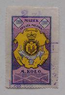 Poland Pologne City Of Koło Revenue Stamp City Tax Timbre Taxe Municipal 20's Used - Revenue Stamps