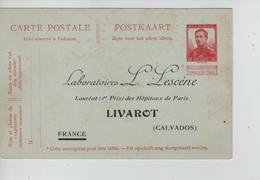 PR7662/ Entier CP 10 C Pellens REPIQUAGE LABORATOIRES L.LESCENE MINT - Stamped Stationery