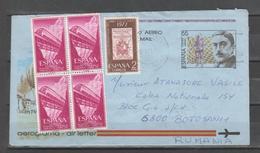ESPAÑA. Aerograma 1990. Nº215. Circulado - 1931-....