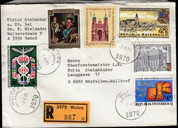 Austria Weitra 1985 / EFTA, Franz Defregger, Innsbruck Diocesan Exhibition, Böheimkirchen, Vocational Training - 1981-90 Cartas
