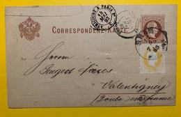 9486 - Entier Postal Graz 13.05.1883 Pour Peugeot Frères à Valentigney Cachet Avricourt à Paris 14.05.1883 - Stamped Stationery