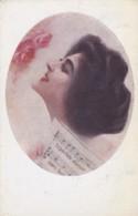 CPA 1921 - Médaillon Femme Et Partition De Musique - Série 1002 Stampa 1590(lot Pat 89) - Künstlerkarten
