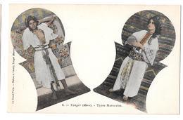 Types Marocains 6 Femme Seins Nus  Tanger Maroc Non Circulée - Tanger