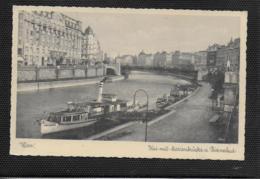AK 0375  Wien - Kai Mit Marienbrücke , Dianabad Und Donaudampfer Um 1920-30 - Wien Mitte