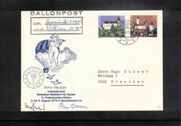 Schweiz / Switzerland 1979 Internationale Gassballon-Wettfahrt Fuer Damen Beromuenster Ballonpost - Svizzera