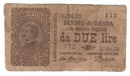 Italy 2 Lire 1920 - [ 1] …-1946 : Regno