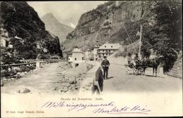 Cp Iselle Di Trasquera Kanton Wallis, Strada Del Sempione, Kutsche - VS Valais