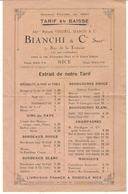 NICE . TARIF CAVE VINS BIANCHI - Publicidad