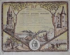 Diplôme Du Certificat D'Etudes Primaire - Département De L'Indre - 1963 - Diplomas Y Calificaciones Escolares