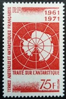 TAAF 1971 Antartique Antartic Géographie Geography Carte Map Traité Treaty Yvert 39 ** MNH - Ungebraucht