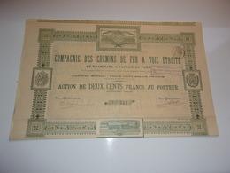 CHEMINS DE FER A VOIE ETROITE Et Tramways A Vapeur Du Tarn - Shareholdings