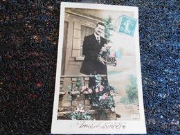 Amitié Sincère, Homme Avec Panier De Fleurs, Allys 631   (H8) - Cartes Postales