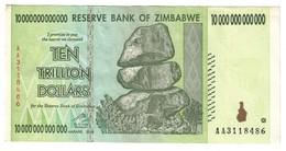 Zimbabwe 10 Trillions Dollars 2008 - Zimbabwe