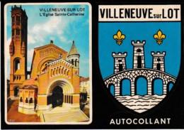 ADHESIF BLASON VILLENEUVE SUR LOT   REF 61994 - Villeneuve Sur Lot