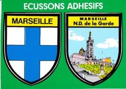 ECUSSON ADHESIF MARSEILLE ET NOTRE DAME DE LA GARDE   REF 61995 - Non Classés
