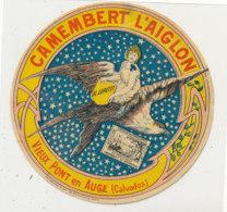 W 289 * / ETIQUETTE  FROMAGE    CAMEMBERT   L'AIGLON  EL. LEPETIT VIEUX PONT EN AUGE (CALVADOS )  (PROMO) - Cheese