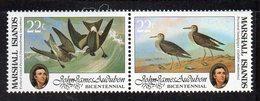 XP4165 - MARSHALL 1985 , Serie Yvert N. 71/72  *** (2380A) Uccelli Audubon - Marshalleilanden