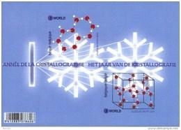 Belgium**CRYSTALLOGRAPHY- SHEET 2 Stamps-2014-MNH-Transparent Polyester-RARE - Belgium