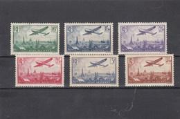 France - 1936 - N°YT PA 8**à 13** - Avion Survolant Paris - Cote 300€ - Poste Aérienne