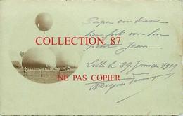 OF 59 ☺♥♥ LILLE < CARTE PHOTO SIGNÉ Degouve Denuncques < DEPART  MONTGOLFIERES En 1919 - AEROSTATION BALLON MONTGOLFIERE - Lille