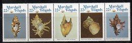 XP4382 - MARSHALL 1985 , Serie Yvert N. 73/77  *** (2380A)  Conchiglie Coquillage - Marshalleilanden