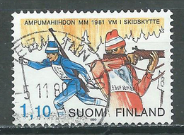 Finlande YT N°837 Championnats Du Monde De Biathlon 1980 Lahti Oblitéré ° - Oblitérés