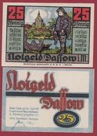 Allemagne 1 Notgeld 25 Pfenning Stadt Dassow(SERIE COMPLETE-10-25-50) Dans L 'état N °5251 - [ 3] 1918-1933 : Repubblica  Di Weimar
