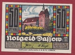 Allemagne 1 Notgeld 50 Pfenning Stadt Dassow(SERIE COMPLETE-10-25-50) Dans L 'état N °5252 - [ 3] 1918-1933 : Repubblica  Di Weimar