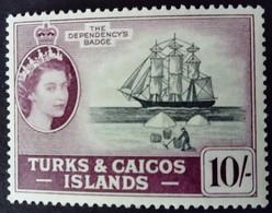 Turks Et Caicos 1957 Bateau Boat Yvert 176 ** MNH - Turks E Caicos
