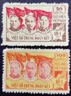 Viet Nam Du Nord North Viet-Nam 1954 Ho Chi Minh Mao Malenkov Yvert 76-77 Neuf Sans Gomme Unused Without Gum - Vietnam