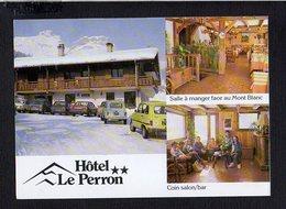 """74 Cordon  / Hôtel """" Le Perron """" Automobiles Renault 4 L Ou R4 Et .....( Carte 2 Volets ) - Non Classés"""
