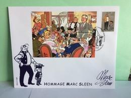 Bloc > Hommage Marc Sleen - Bruxelles - 20.12.2002 Coté..€ (Grande Enveloppe) - Brieven En Documenten