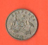 Australia 6 Pence Six Pence 1960 - Moneta Pre-decimale (1910-1965)