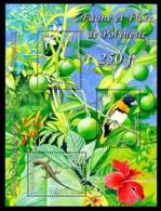 POLYNESIE 2013 - Yv. 1019 à 1021 (F10019) **  - Feuille Faune Et Flore (3 Val) Citron  ..Réf.POL25009 - Polynésie Française