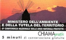 *CHIAMAGRATIS - N.340 - MINISTERO DELL'AMBIENTE* - Scheda NUOVA (MINT) (DT) - Italia