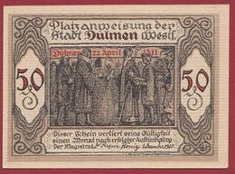 Allemagne 1 Notgeld 50 Pfenning Stadt Dülmen (TRES-RARE)  Dans L 'état N °5267 - [ 3] 1918-1933 : Repubblica  Di Weimar