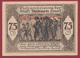 Allemagne 1 Notgeld 75 Pfenning Stadt Dülmen (TRES-RARE)  Dans L 'état N °5268 - [ 3] 1918-1933 : Repubblica  Di Weimar