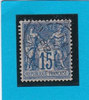 SAGE N° 90 TYPE II C  ETAT 1     + CACHET  PARIS RUE De La BASTILLE   -REF  1602 - 1898-1900 Sage (Type III)