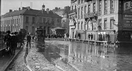 44 Nantes Tramway Mékarski Dns Les Inondations - Diapositivas De Vidrio