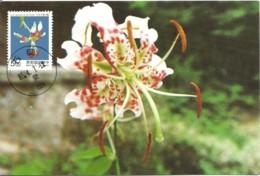 Carte Maximum - Taiwan - Formose - Flowers - Fleurs - Lilium Speciosum - 1945-... Repubblica Di Cina