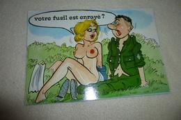 BELLE ILLUSTRATION HUMORISTIQUE .......MILITAIRE AU FUSIL ENRAYE !!!!! - Humor
