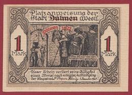 Allemagne 1 Notgeld 1 Mark Stadt Dülmen (TRES-RARE)  Dans L 'état N °5269 - Collections