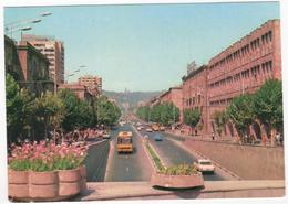 Erevan - Prospekt Lenina - & Old Cars, Bus - Armenia