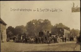 Photo Cp Lübz In Mecklenburg, Brandkatastrophe 1911, Gebäuderuine - Germania
