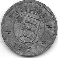 *notgeld TUTTLINGEN  10 Pfennig 1917 Zn  552.2 - [ 2] 1871-1918: Deutsches Kaiserreich