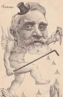 CPA Caricature Politique Satirique Armand FALLIERES Saison Printemps Illustrateur ORENS (2 Scans) - Satiriques
